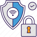 cyber security, internet security, online security, virus protection, web security icon