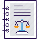 authentic document, business file, deed, legal document, legal papers icon