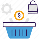 digital shopping, ecommerce, eshopping, online shopping, web shopping icon