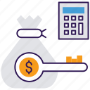budgeting, cost budgeting, cost control, operating expense, operational cost, overhead cost icon