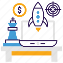 business planning, initial business, launching, start up, web startup icon