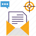 content marketing, data send, email, email marketing, file send icon