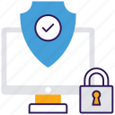 antivirus, computer safety, data security, network security, system virus protection icon