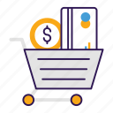 buying, purchasing, shopping, shopping trolley, spending icon