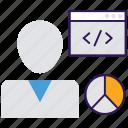 bio data, employee data, employee information, personal information, staff data icon