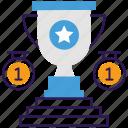 award trophy, gold trophy, winner cup, winner trophy, winning cup icon