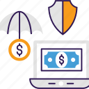 online insurance, online payment, online transaction, payment safety, payment security icon