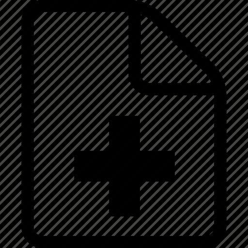 add document, add file, document, file icon