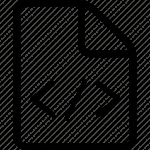 code document, code file, document, file icon