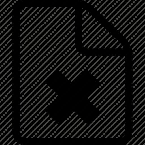 broken file, document, file, page, paper icon
