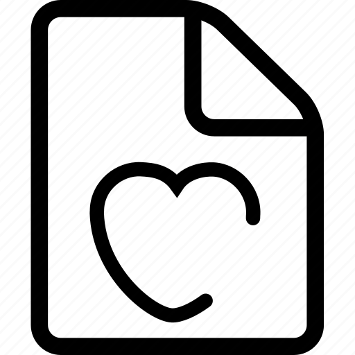 document, favorites document, favorites file, file icon