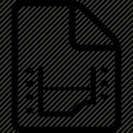 document, file, movie, movie file, video, video document, video file icon