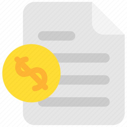 bank, doc, document, file, finance, money, paper icon