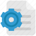 doc, document, file, page, paper, settings icon
