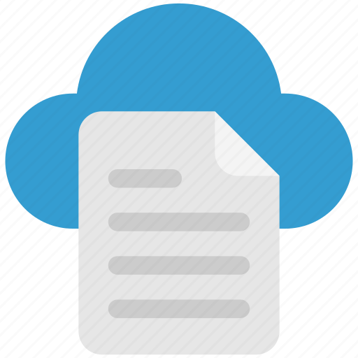 cloud, doc, document, file, page, paper, storage icon