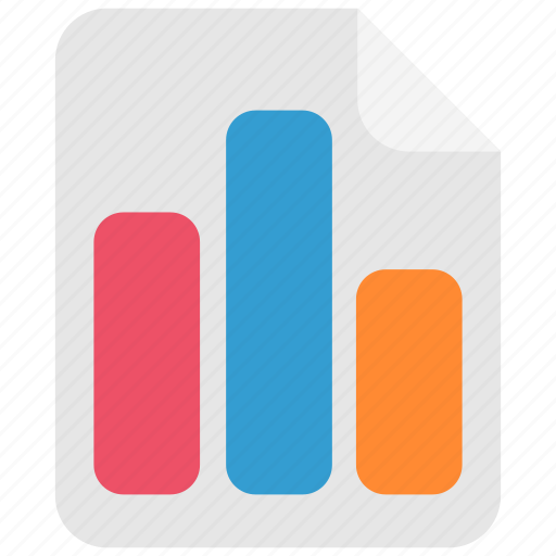chart, document, file, graph, page, paper, statistics icon