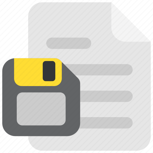 diskette, doc, document, file, floppy, page, paper icon