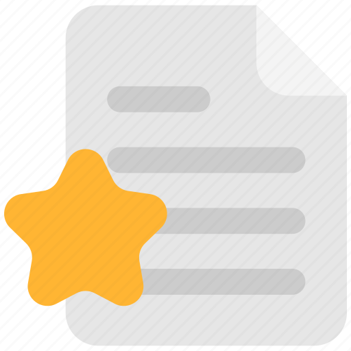 doc, document, favorites, file, paper, star icon