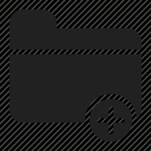 add, add folder, document, file, folder icon