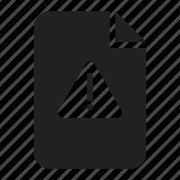 alert, danger, document, file, warning icon