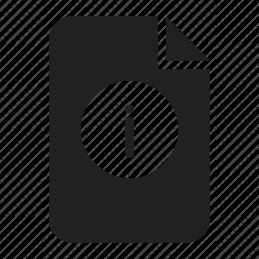documnet, file, help, info, information icon