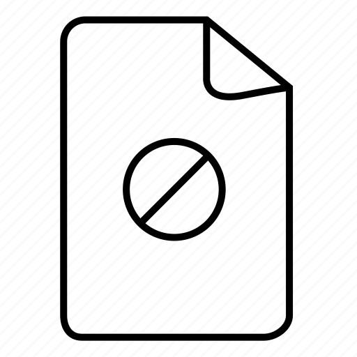 block, blocked file document, doc, document, documents, file, files icon