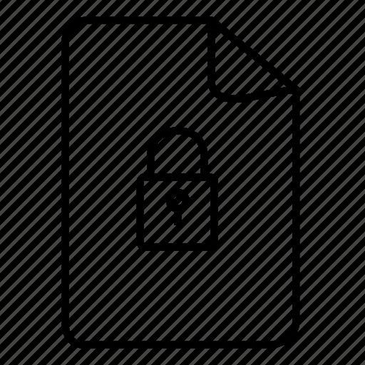 doc, documents, file, files, lock file, lock file document icon