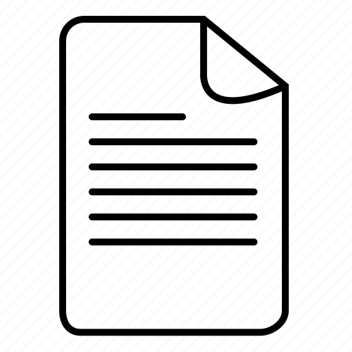 doc, document, documents, file, files, format, text document icon
