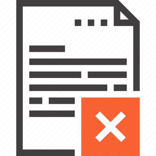 data, delete, document, file, office, paper, remove icon