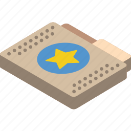 favourite, file, folder, isometric icon