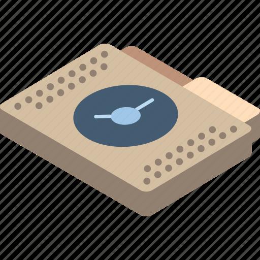 file, folder, isometric, schedule icon