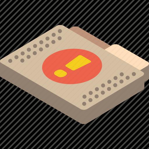 file, folder, important, isometric icon