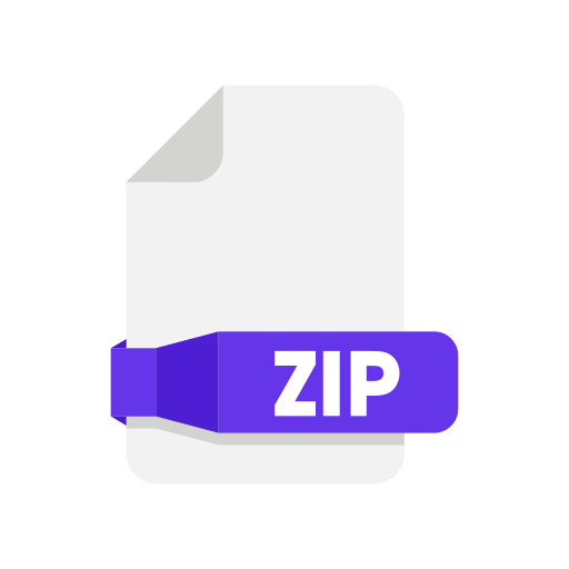 document, files, folder, zip icon