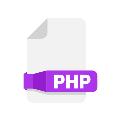 document, files, folder, php icon