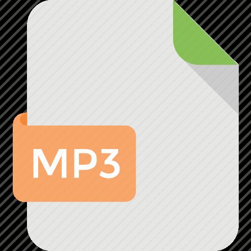File format, mp3 file, audio document, mp3 file extension, music file icon