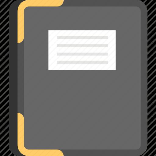 Portfolio case, conference folder, executive file folder, office supplies, leather folder icon