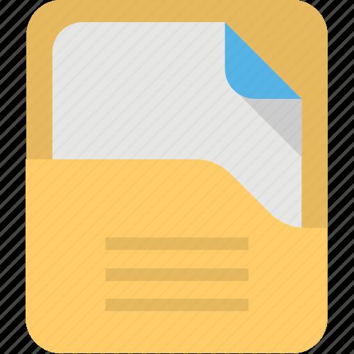 document handling, documentation, note file, paper folder, paper in folder icon
