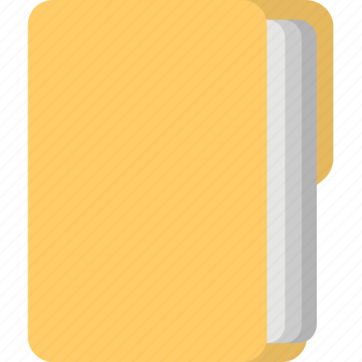 archive organizer, document folder, file, paperwork, report in cover icon