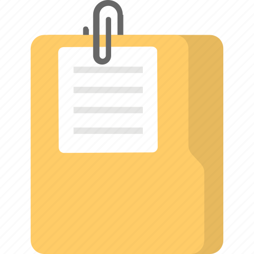 attached file, attached folder, attachment, document attachment, email attachment icon