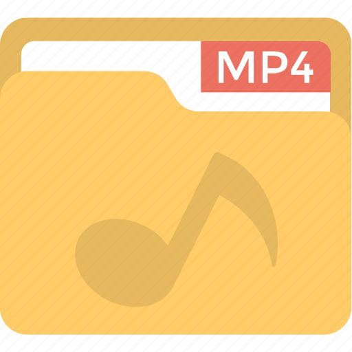 Document storage, mp4 collection, computer software, movie folder, video file icon