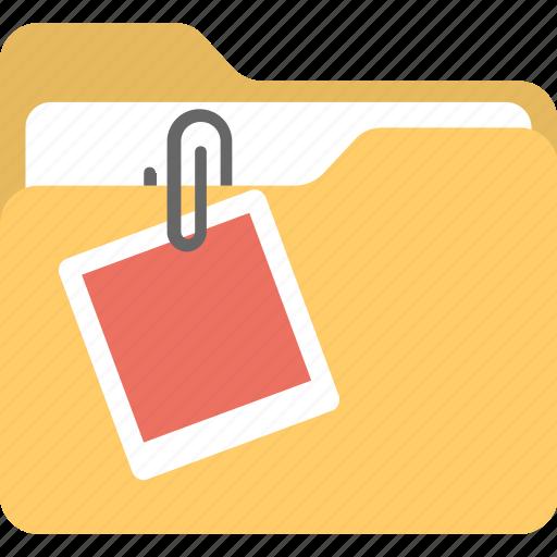 attached document, attached file, attachment, email attachment, folder attachment icon