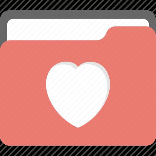 bookmarked document, digital data management, favourites file, heart folder, liked document icon
