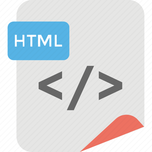 browser management, html extension, html file, software development, web page coding icon
