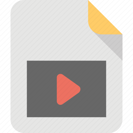file format, mp4 document, multimedia, music player, video file icon
