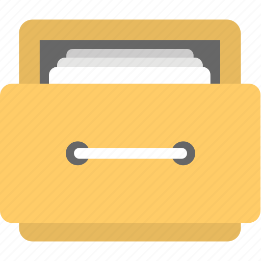 accounts documents, archive folder, file cabinet, file organizer, finance data management icon