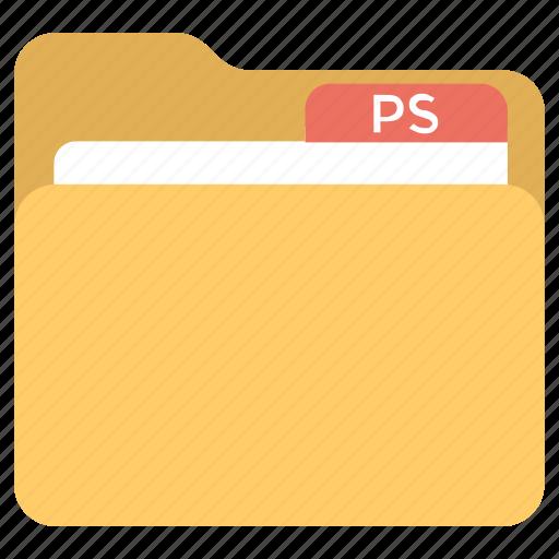 Digital document, photoshop folder, document transformation, artist collection, edited files icon