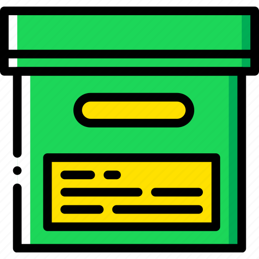 box, document, file, folder, write icon