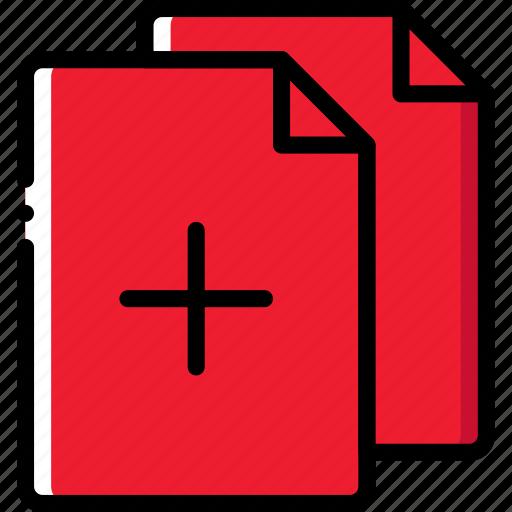add, document, file, folder, write icon
