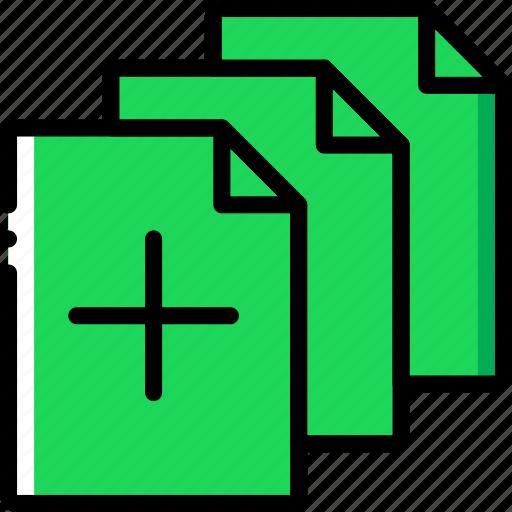 add, document, file, files, folder, write icon