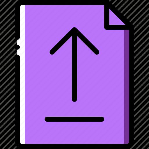 document, file, folder, upload, write icon